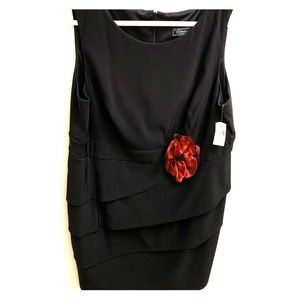Collection Dress Barn Black Dress Red NWT 22